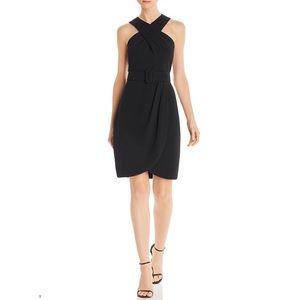 Eliza J Crepe Halter Dress, Black, Sleeveless 14